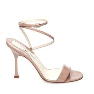 Brian Atwood Strappy Nude Sandal High Heels | 36